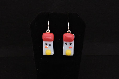 H47 Red & Yellow Snowdude Earrings