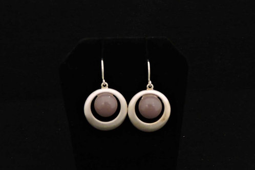 E087 Lilac Round Earrings