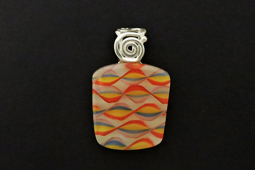 P042 Ribbon Rainbow Pendant