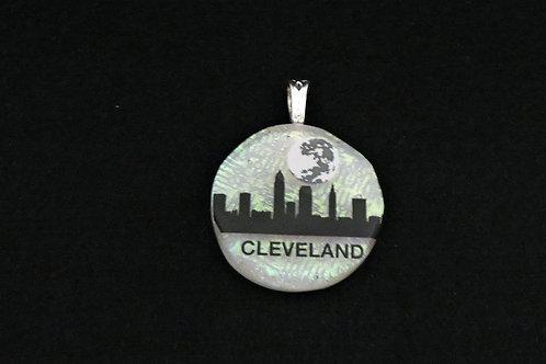 L045 Cleveland Skyline w/moon Pendant