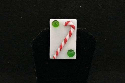 H42 Candy Cane w/green ball Pin