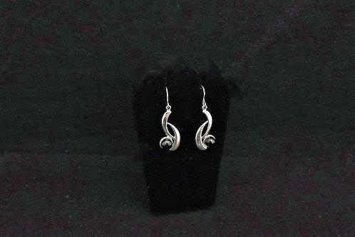 E110 Black Curve Earrings