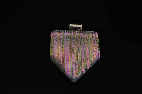P410 Pink Accordion Pendant