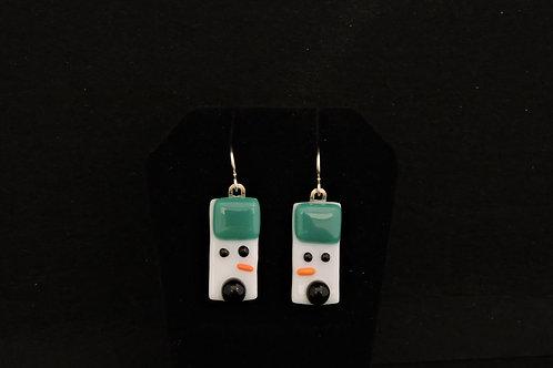 H53 Teal Snowdude Earrings