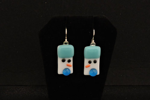 H36 Aqua Snowdude Earrings