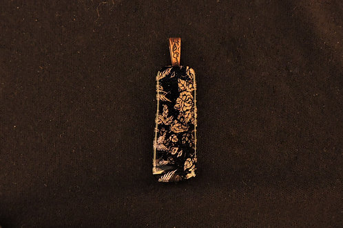 P190 Wings & Flowers Pendant