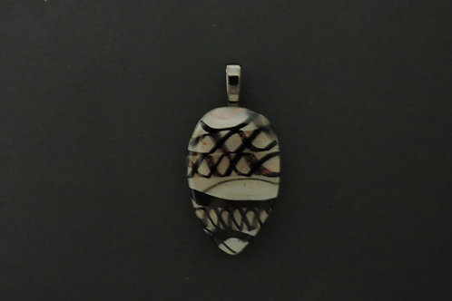P058 Black,White & Copper Pendant