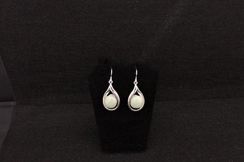 E097 Celadon Green Drop Earrings
