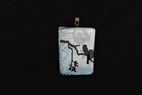 P332 Moonlit Birds Pendant