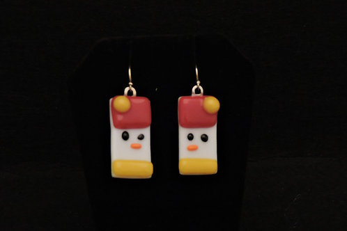 H03 Red & Gold Snowdude Earrings