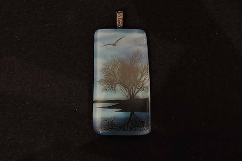 P414 Reflective Tree Pendant