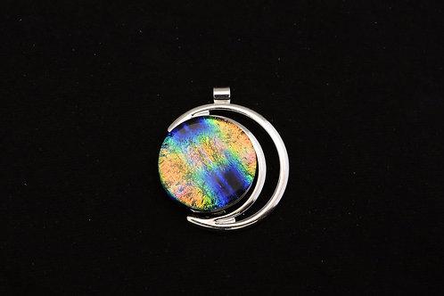 P170 Colorful Crescent Pendant