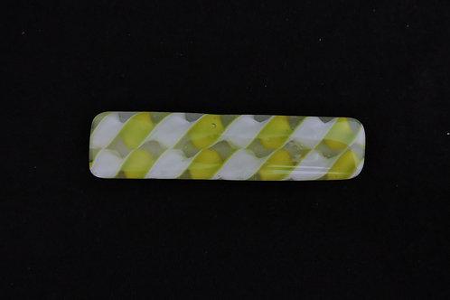 B001 Chartreuse Ribbon Barrette