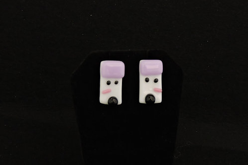 H33 Lilac Snowdude Post Earrings