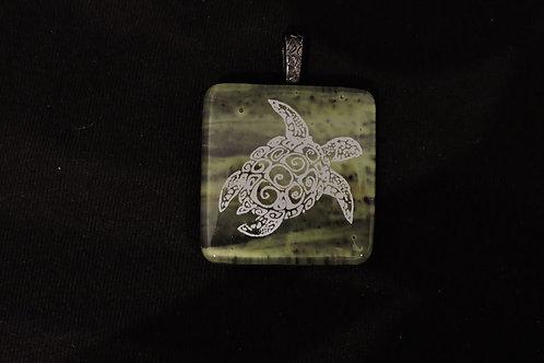 P261 Aztec Turtle Pendant