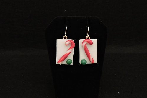 H08 Candy Cane Earrings