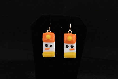H38 Orange & Yellow Snowdude Earrings