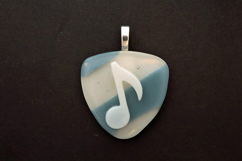 P028 Musical Blue & White Pendant