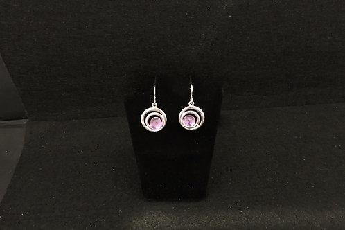E100 Lilac Swirl Earrings