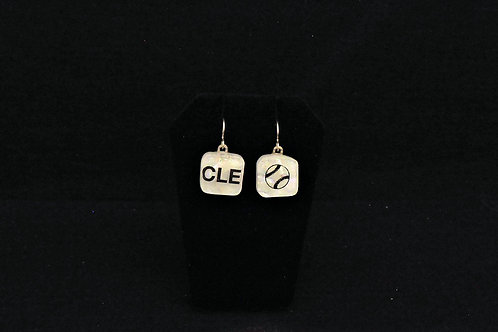 E117 CLE Baseball Earrings