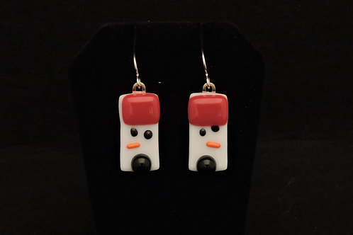 H07 Red & Black Snowdude Earrings