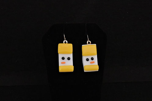 H45 Yellow Snowdude Earrings