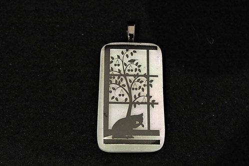 A045 Kitty in the Window Pendant
