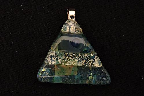 P223 Frit & Murrini Small Pyramid Glass Pendant