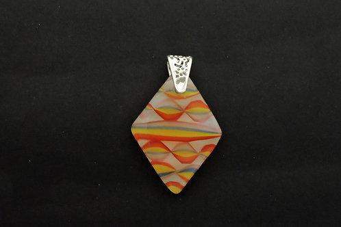 P065 Ribbon Diamond Pendant