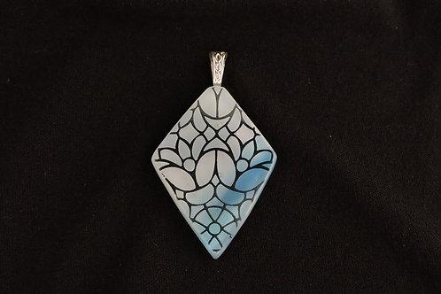 P108 Diamond Floral Pendant
