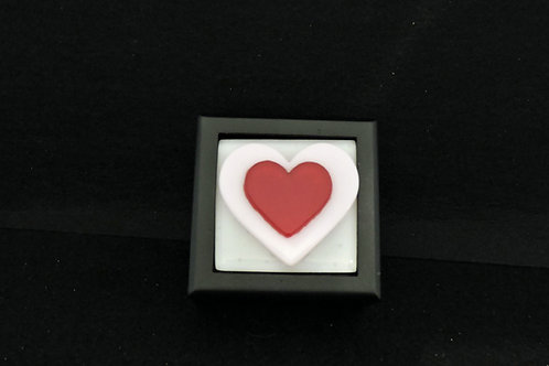 M24 Pink & Red Hearts Trinket Box