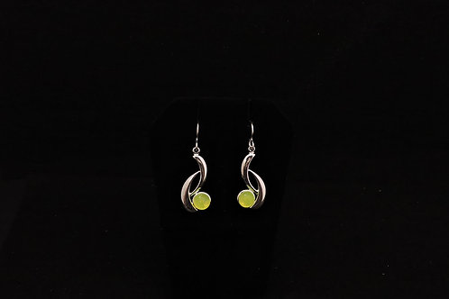 E124 Canary Curve Earrings