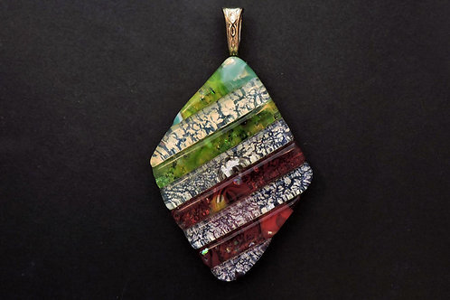 P029 Frit & Murrini Diamond Pendant