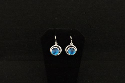E130 Transparent Blue Earrings