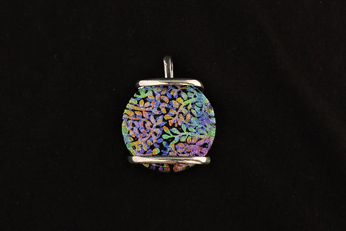 P293 Colorful Fern Pendant
