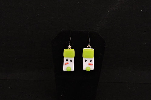 H52 Spring Green Snowdude Earrings