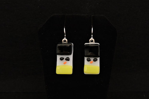 H72 Black & Yellow Snowdude Earrings
