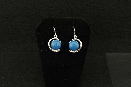 E120 Turquoise Crescent Earrings