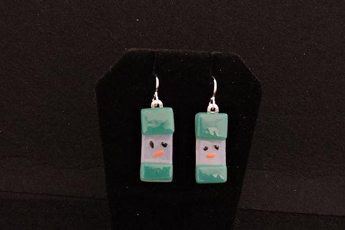 H32 Teal Snowdude Earrings