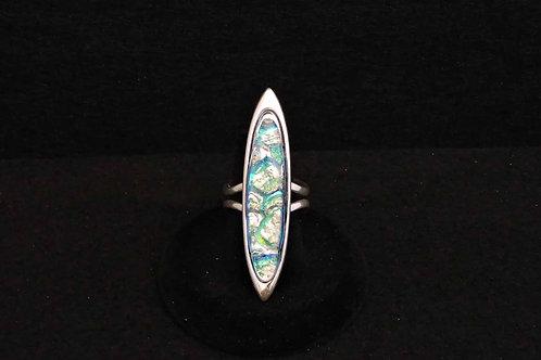 R6 Green & Blue Long Ring