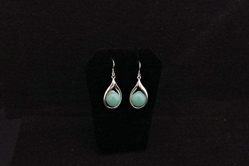 E107 Aqua Teardrop Earrings