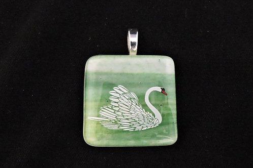 P257 Spring Swan Pendant
