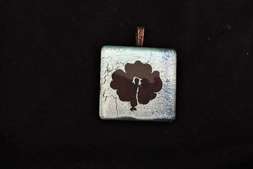 P349 Deep Red Flower Pendant