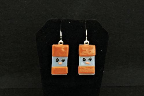 H57 Brown Snowdude Earrings