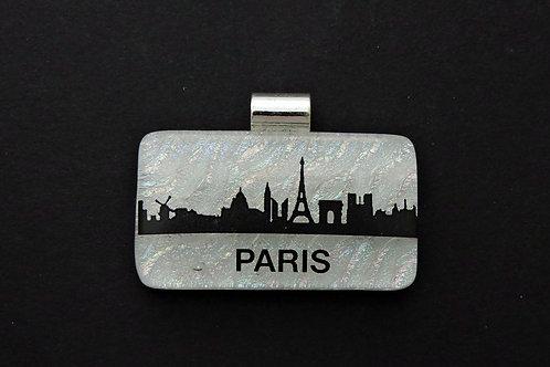 L011 Paris Skyline Glass Pendant