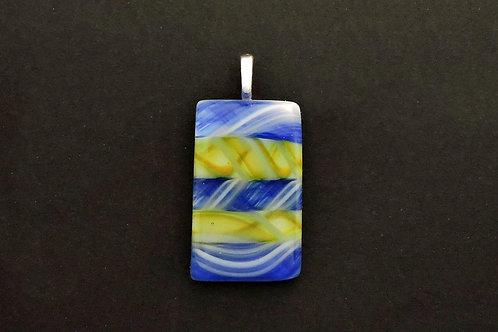 P055 Blue, Yellow & White Pendant