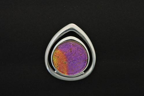 P008 Purple & Orange Teardrop Glass Pendant