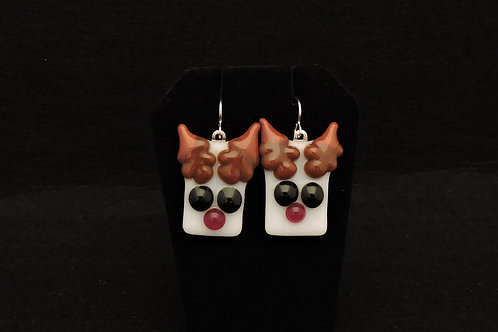 H24 Big Eye Reindeer Earrings