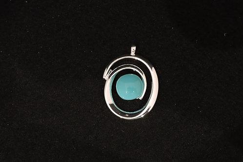 P451 Aqua Swirl Pendant