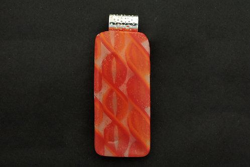 P081 Red, Orange & Clear Pendant